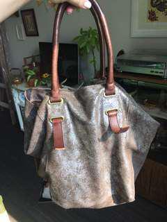 Anthropologie Holding Horses GunMetal Bag