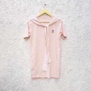 Pastel Pink Shirt Dress