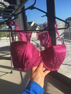 Purple Lace Pleasure State Couture Bra 10D