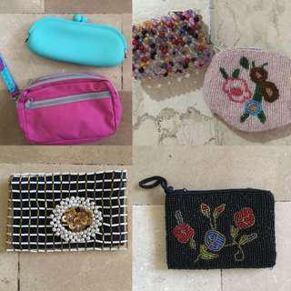 Assorted wallets and purses