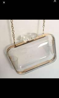 Clear clutch from nasty gal