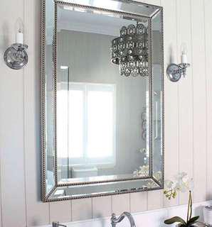 Brand new small and large traditional mirrors