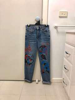 Topshop graphic jeans