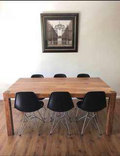 Brand new 6-8 seat hardwood dining table (TABLE ONLY)