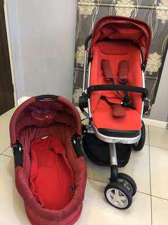 Quinny Buzz stroller with baby basinet one set