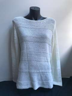 Off White weave knit jumper