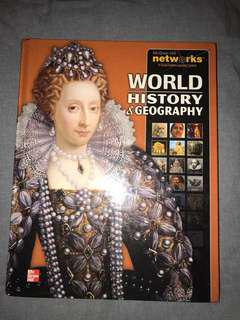 World history and geography textbook