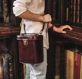 Vintage Inspired Leather Handbag