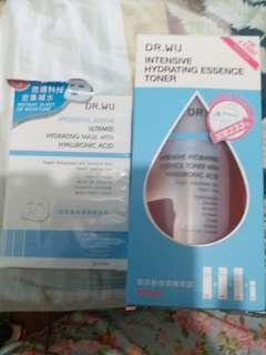 (台灣組合優惠)Dr.Wu玻尿酸保濕精華露+玻尿酸面膜3片(包順豐)