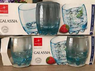 Bormioli R. Sky blue glasses (6 pc, 30cl - 10 1/4 oz)