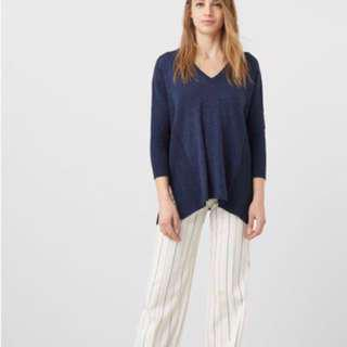 Mango Sweater Navy Blue