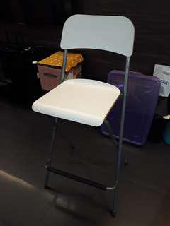 Two IKEA high chairs / bar stools white