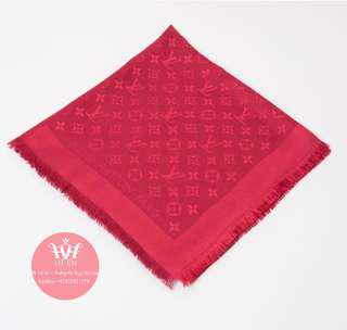 LOUIS VUITTON SCARF IN RED