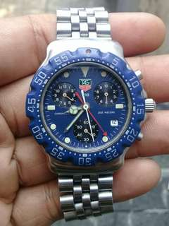 Tag Heuer Formula Chrono Blue Dial MIDSIZE Swiss Made AUTHENTIC