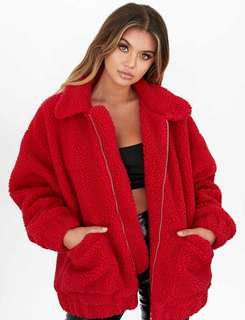 I AM GIA Pixie Coat / Jacket Red XS (New)