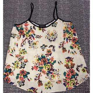 Topshop Floral Cami Top