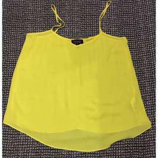 Topshop Yellow Cami Top