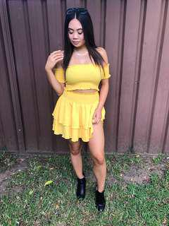 Yellow festival two piece