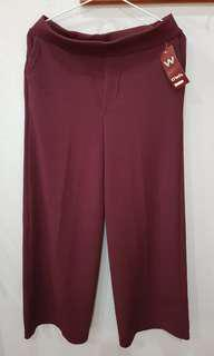 Celana Kulot merah maroon