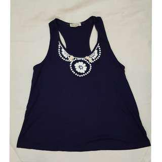 F21 beaded sleeveless