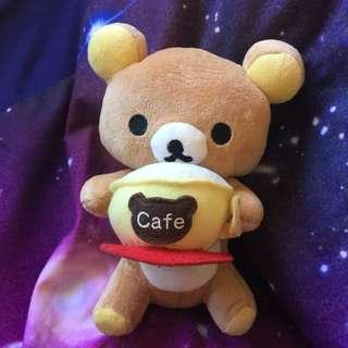 RILAKUMMAR Cafe Bear Plushie Toy