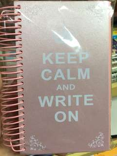 Keep Calm and Write On Pink Paper