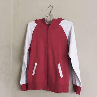 Red White Misty Zip Hoodie