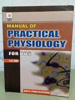 Manual of Practical Physiology for BDS AK Jain