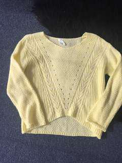 Bright lemon yellow Knut sports girl top jumper