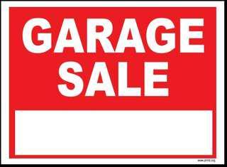 Garage sale every Sunday