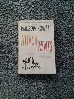 Attachments by Rainbow Rowell (shipping fee included)