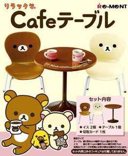 Re-Ment Rilakkuma Cafe Table and Chair Set
