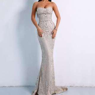 Sequin Strapless Formal Dress