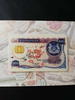 Singapore orchid series currency notes Cash Card