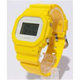CASIO G-SHOCK DW-5600 series DW-5600CU DW-5600CU-9 黃色 GSHOCK DW5600CU