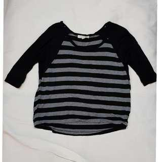 F21 stripe blouse