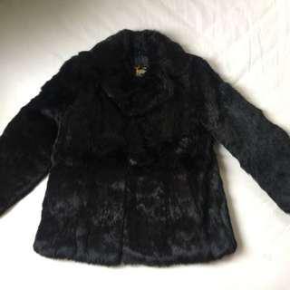🚚 黑色兔毛女士皮草外套,純手工製作,香港進口,全新品.