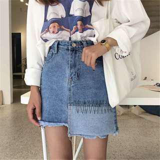 🚚 [$8 MAILED] Denim A Line Skirt