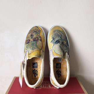 Vans Gogh Skull Slip On
