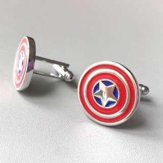 (全新 現貨) 美國隊長 袖口鈕 袖口扣 袖扣 Captain America  Cufflinks