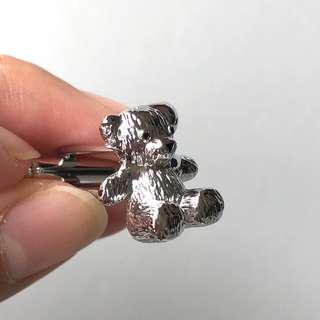 (全新 現貨) 熊仔 熊啤啤 袖口鈕 袖口扣 袖扣 Teddy Bear Cufflinks