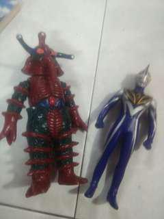 Ultraman sofubi set combo
