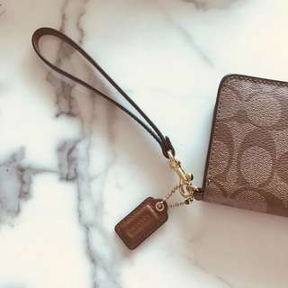 COACH Wristlet with card slots and coin slot