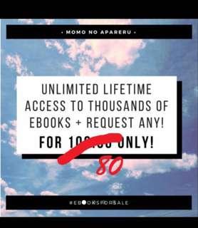 UNLI EBOOKS FOR 80 UNLIMITED ACCESS