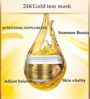 Gold Tear Mask