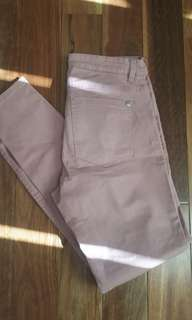 Dusty Pink Mid Rise Jeggings