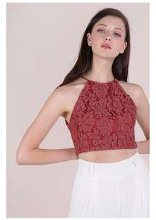 BNWT! Bloom halter lace top