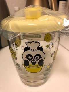 7-11 Pangyo 圓形鍋,連蓋玻璃杯