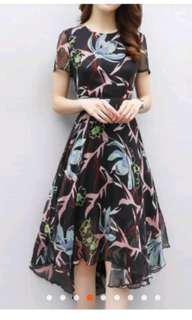 Mid dress flower