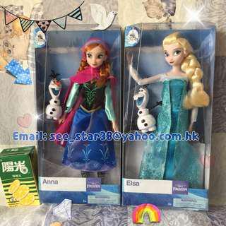 美國迪士尼公主經典款公仔 魔雪奇緣公仔 愛莎安娜公仔 Elsa & Anna Doll 冰雪奇緣